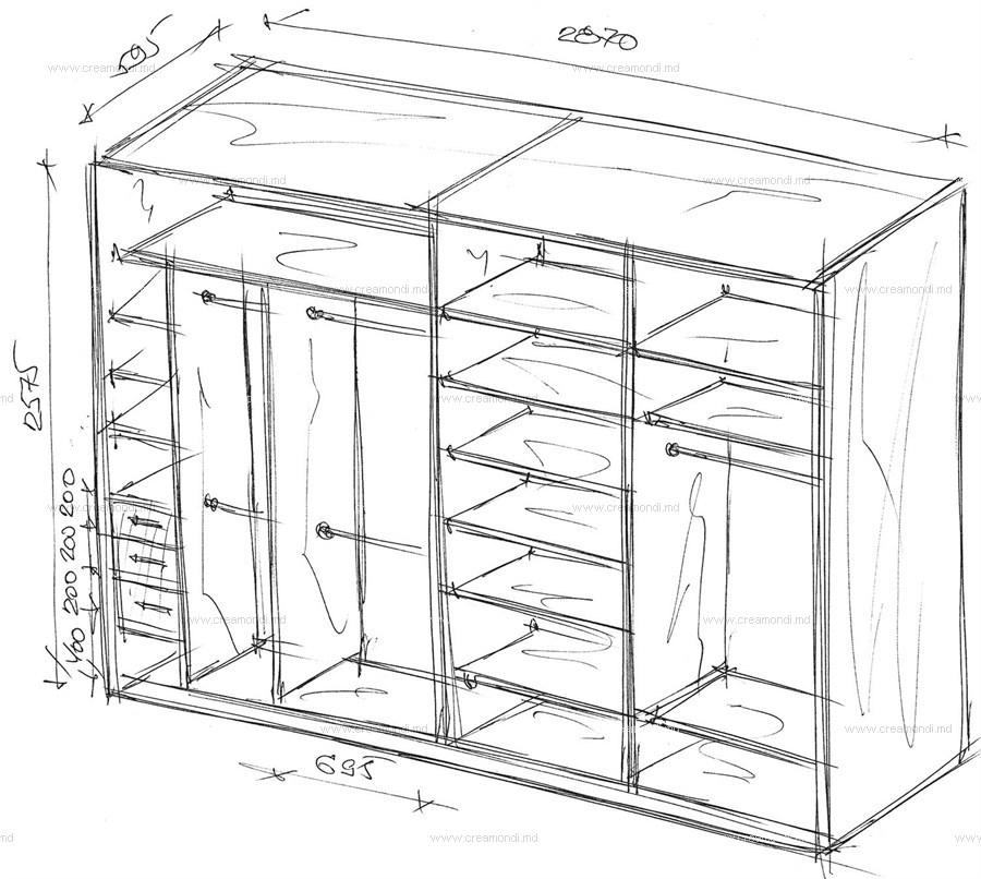 Шкафы купе фото чертежи