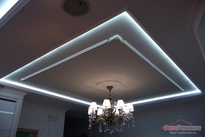 Подвесные потолки из гипсокартона своими руками дизайн фото