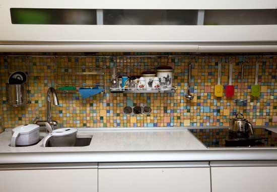 мозаика на кухне фартук фото