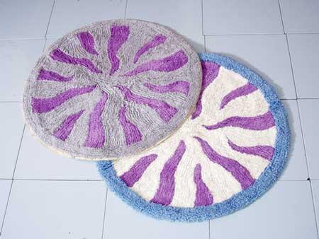 Круглый коврик для ванной