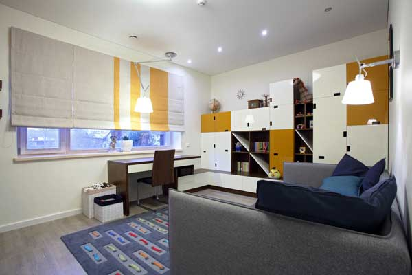 Квадратные формы в дизайне комнаты