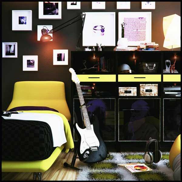 Дизайн комнаты подростка музыканта