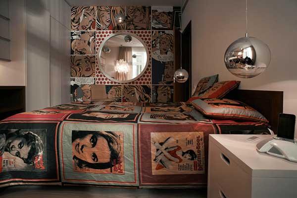 Кровать для подростка в стиле поп-арт