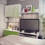 Яркая спальня от дизайнера