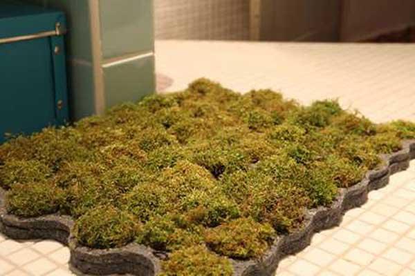 Коврик для ванной из мха