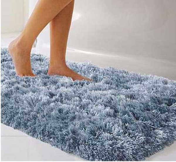 Голубой тканевый коврик