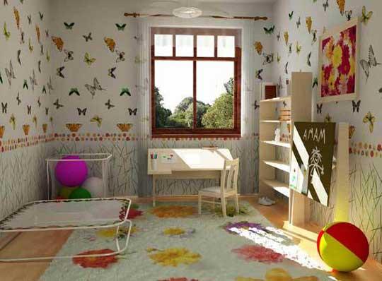 Бумажные обои для детской комнаты