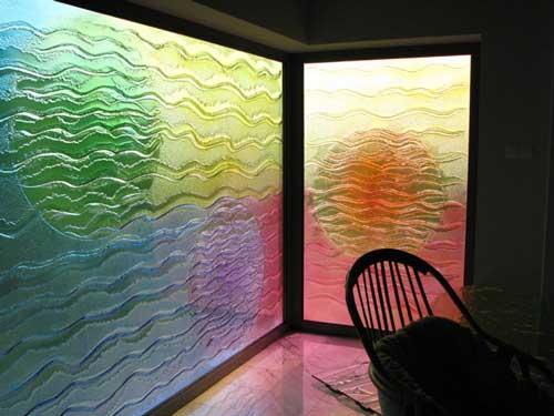 Креативные перегородки из стекла