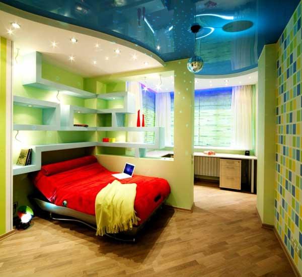 Зеленые оттенки в детской комнате