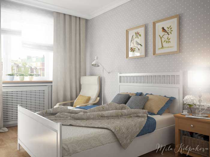 Оформление небольшой спальни для молодой женщины в стиле минимализм