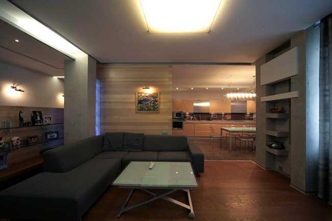 Дизайн современной большой гостиной в доме
