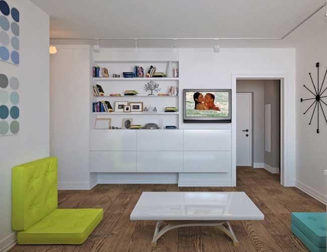 Оформление зоны отдыха гостиной в скандинавском стиле