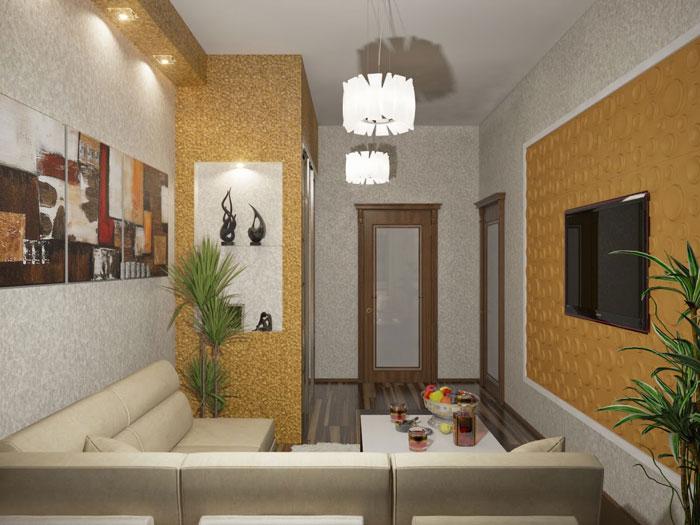Ремонт гостиной комнаты в хрущевке. Встроенный шкаф-купе