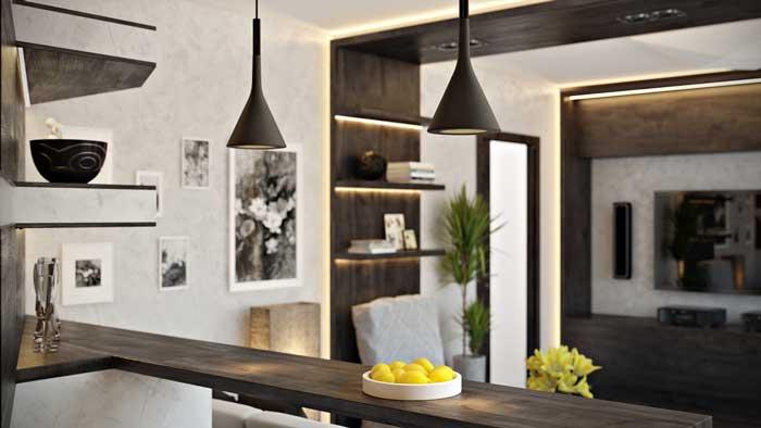 Дизайн современной гостиной 20 квадратных метров