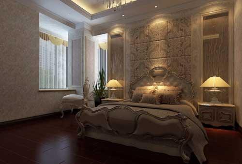 Дизайн спальни в классическом стиле в молочных тонах