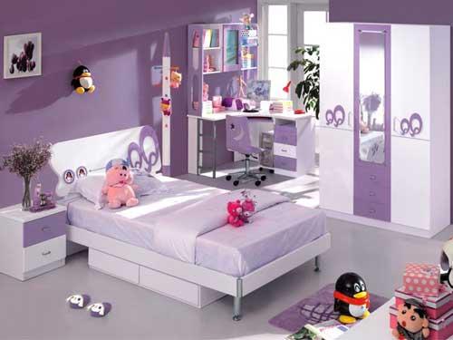 Дизайн комнаты для девочки в сиреневых тонах