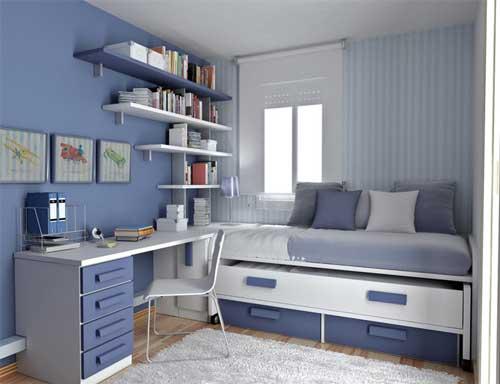 Дизайн комнаты для девочки в голубых тонах