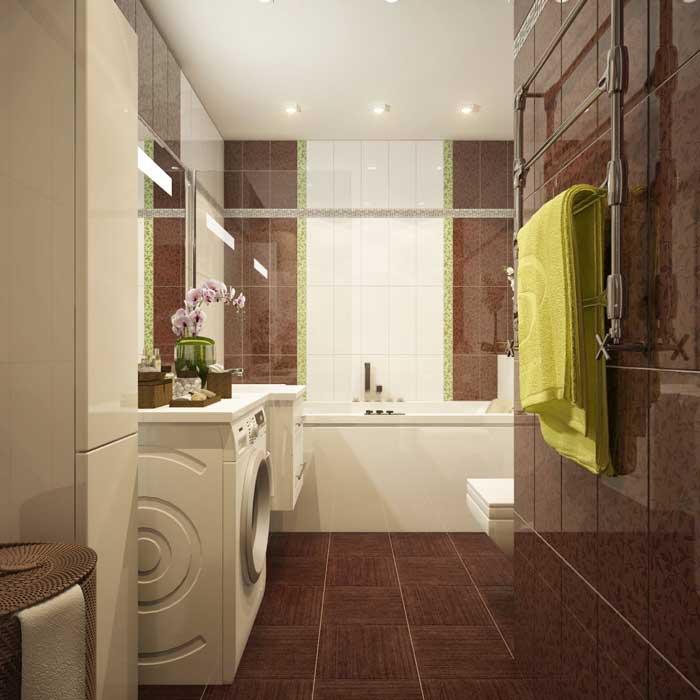 Красивый дизайн проект совмещенной ванной комнаты