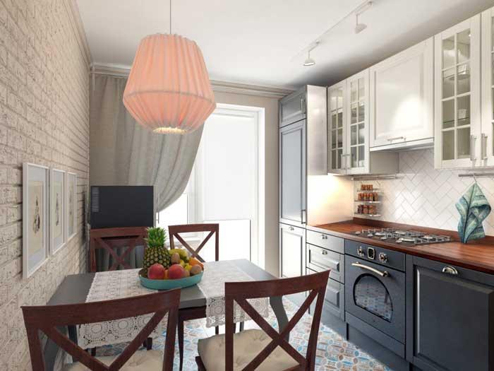 Фото интерьера гостиной в стиле прованс: дизайн кухни