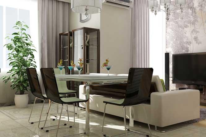 Современный дизайн интерьера квартиры с кабинетом
