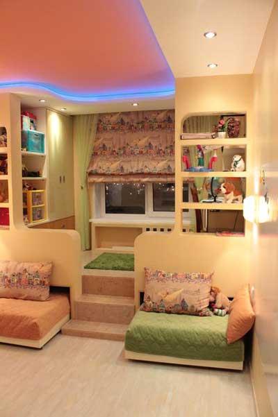 Маленькая детская комната для девочки дизайн