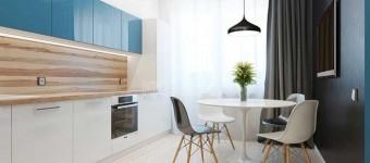 Интерьер кухни столовой в однокомнатной квартире