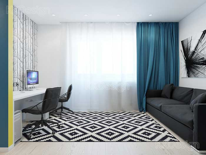 Дизайн квартиры однокомнатной в стиле минимализм