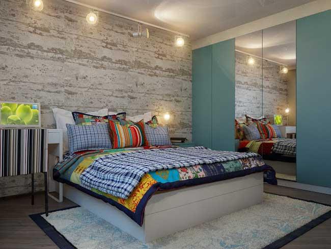 Спальная комната. Дизайн в стиле кантри и экостиль