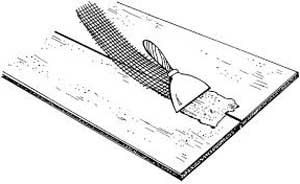 Затирка швов и трещин