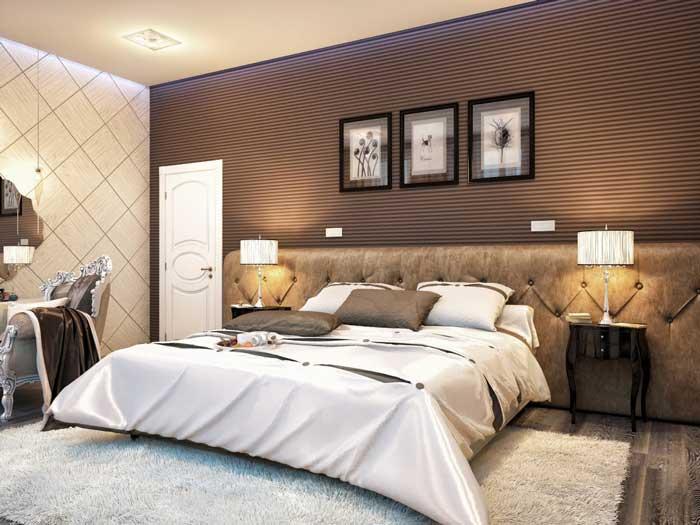Спальня в современном классическом стиле. Модный дизайн в ...
