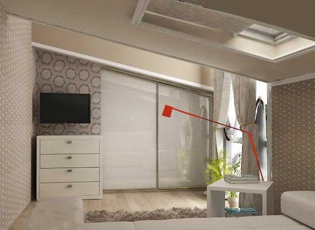 Коричневая детская спальня 12 кв. м. Фото 8