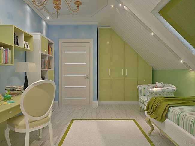 Дизайн интерьера детской комнаты 12 кв. м. Фото 13