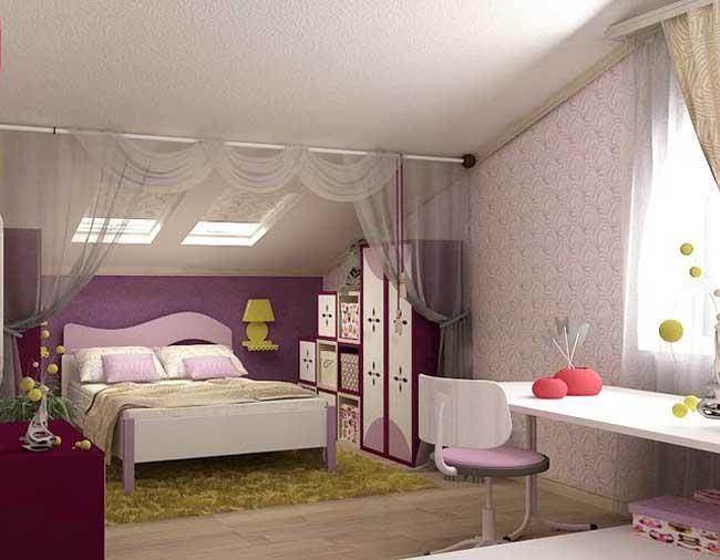 Дизайн розовой детской спальни для девочки. Фото 10