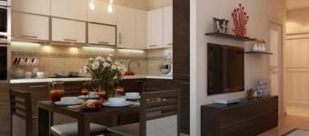 Дизайн однокомнатной квартиры с нишей. Фото 7