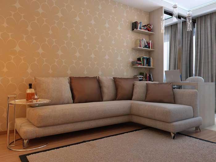 Дизайн комнаты в однокомнатной квартире. Фото 14