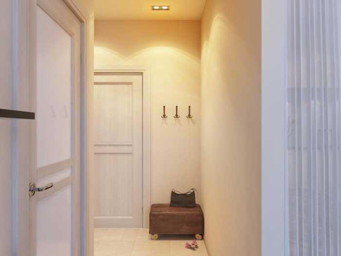 Дизайн маленькой однокомнатной квартиры в светлых тонах. Фото 2