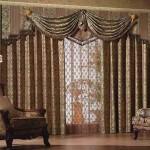 Роскошные шторы для гостиной в классическом стиле. Фото 17