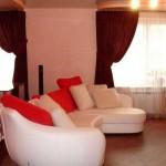 Красные шторы в гостиную 2014. Фото 14