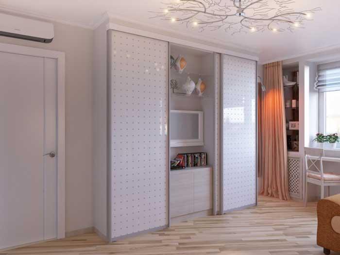 Дизайн проект гостиной 16-18 кв. м. Светлые тона. Фото 4