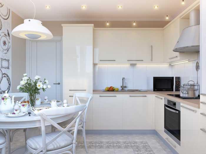 Угловая кухня 12 кв м дизайн с холодильником 88