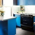 Синяя кухня дизайн