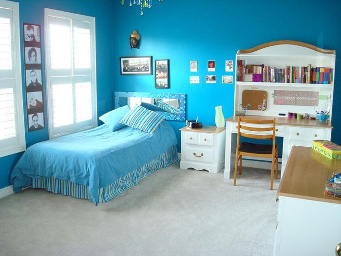Покрывало синее для кроватки. Синяя детская после ремонта
