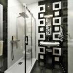 Дизайн проект черной ванной комнаты. Фото 4