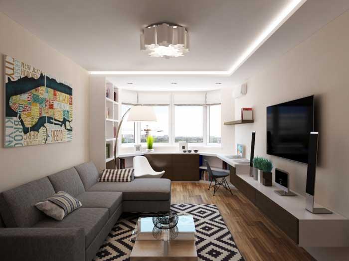 Интересные интерьеры однокомнатных квартир