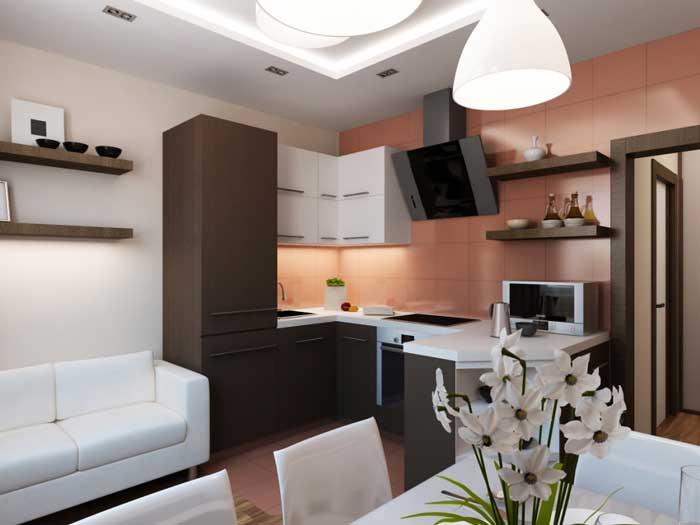 Интересный дизайн однокомнатной квартиры