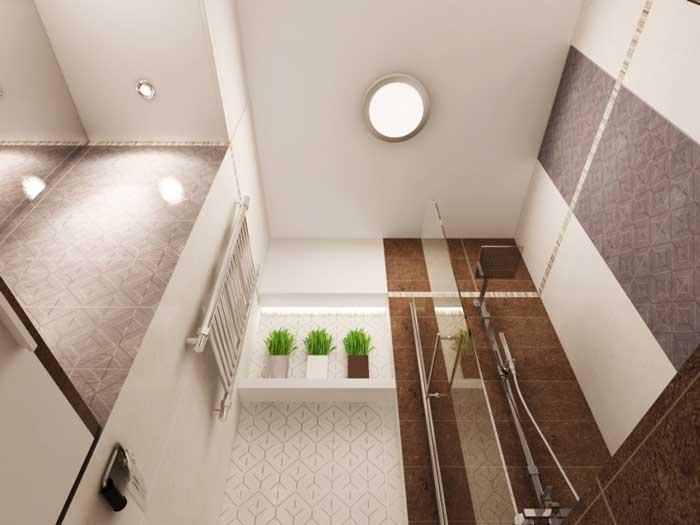 Ванная в однокомнатной квартирке. Фото 15