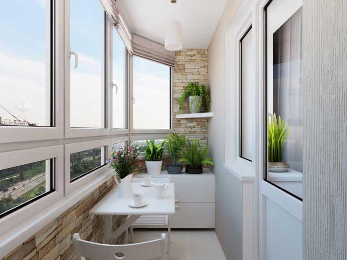 Отделка балкона в однокомнатной квартире. Фото 18