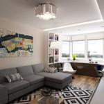Интерьер маленькой однокомнатной квартиры. Фото 2