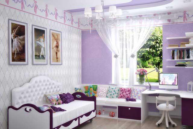 Дизайн комнаты маленького размера для девочки подростка