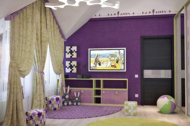 Отделка детской спальни